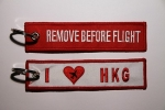 "Zawieszka REMOVE BEFORE FLIGHT ""I LOVE HGK"""